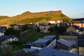 Arthur's Seat at sunset, view from the city, Edinburgh, Scotland