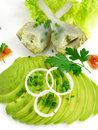 Artichoke and avocado salad 2 Royalty Free Stock Images