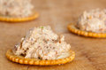 Artichoke spread small crackers with Royalty Free Stock Photography