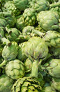 Artichokes full frame take of fresh at a market stall Stock Images