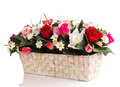 Artifical floral arrangement Stock Images