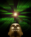 Artifical intelligence symbolized by binary code Stock Images