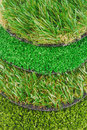 Artificial astro turf grass  samples Royalty Free Stock Photo