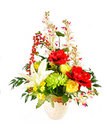 Artificial flower arrangement Stock Photo