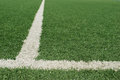 Artificial football field Royalty Free Stock Photography