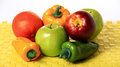 Artificial fruits and vegetables Stock Images