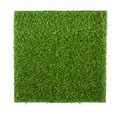 Artificial grass sheet isolated on white background Royalty Free Stock Photo