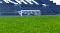 Artificial grass is similar the green in stadium Royalty Free Stock Photography