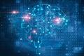 Artificial intelligence brain symbol