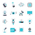 Artificial Intelligence Flat Icon Set Royalty Free Stock Photo