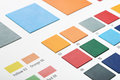 Artificial leather color swatches Royalty Free Stock Photo