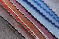 Artificial Leather Samples Royalty Free Stock Photo