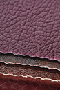Artificial leather swatches four close up Royalty Free Stock Photography
