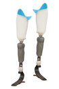 Artificial limb under the white background Royalty Free Stock Photography