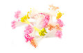 Artificial llower pollen flower for handmade crafting on whie background Stock Photo