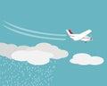 Artificial rain, Rainmaking, Cloud seeding,vector Royalty Free Stock Photo