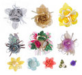 Artificial realistic Flower collection Royalty Free Stock Images