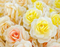 Artificial rose wood flowers Royalty Free Stock Photo