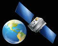 Artificial satellite illustration of an Royalty Free Stock Images