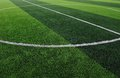 Artificial Soccer Field Royalty Free Stock Photos