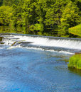 Artificial waterfall on Liffey river Stock Image