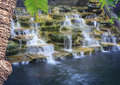 Artificial waterfalls with long exposure technic photography file Royalty Free Stock Image
