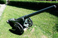 Artillery is a class of large military weapons built to fire munitions Royalty Free Stock Photo