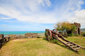 Artillery old in fortress of philippines Stock Photography