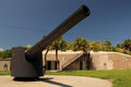 Artillery piece at fort desoto in the tampa bay area florida Royalty Free Stock Image