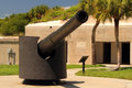 Artillery piece at fort desoto in the tampa bay area florida Stock Image