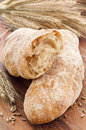 Artisan Bread on a Wooden Tabled Royalty Free Stock Photography