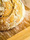 Artisan loaf crusty fresh bread right out oven Stock Images