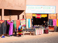 Artisan shop traditional selling goods in morocco Royalty Free Stock Image