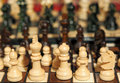 Artisan souvenir chess set on village market Royalty Free Stock Images