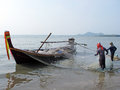 Artisanal fishery people south thailand Royalty Free Stock Photo