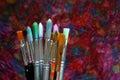 Artist brushes Royalty Free Stock Photo