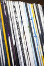 Artist canvases stacked on a studio Stock Image