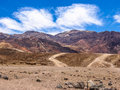 Artist drive in death valley california and palette is a small road national park which comes out of the main and goes to the Royalty Free Stock Images