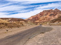Artist drive in death valley california and palette is a small road national park which comes out of the main and goes to the Royalty Free Stock Photo