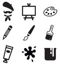 Artist icons this image is a vector illustration and can be scaled to any size without loss of resolution Royalty Free Stock Image