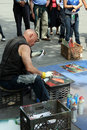 Artist in New York City Stock Image