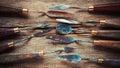 Artist Palette Knifes On Woode...