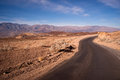 Artist's Drive Side Road Perfect Day Death Valley National Park Royalty Free Stock Photo