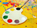 Artist's palette Stock Photography