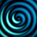 Artistic Blue Spiral Stock Photo