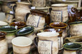 Artistic ceramic bowls as a souvenir at local traditional market