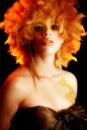 Artistic cosmetic portrait Στοκ φωτογραφίες με δικαίωμα ελεύθερης χρήσης