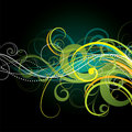 Artistic curly background Royalty Free Stock Photo