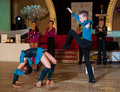 Artistic dance awards moscow october unidentified children age compete in latino on the organized by world Stock Photos