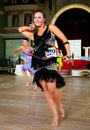 Artistic dance awards moscow october unidentified female teen age competes in latino on the organized by world Royalty Free Stock Photo